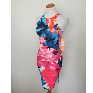 Ginger Fizz ASOS Floral Bodycon Dress NEW